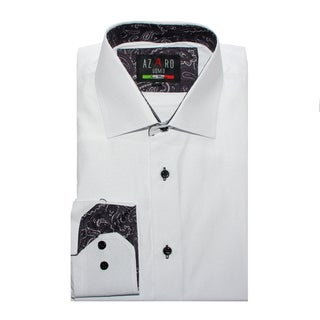 Azaro Uomo Men's Lomo White Button Down