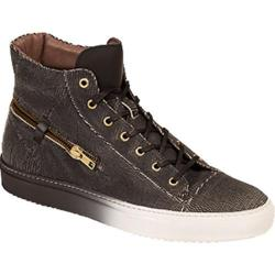 Men's Bacco Bucci Teo High Top Sneaker Black Calf Leather