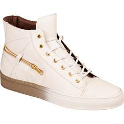 Men's Bacco Bucci Teo High Top Sneaker White Calf Leather