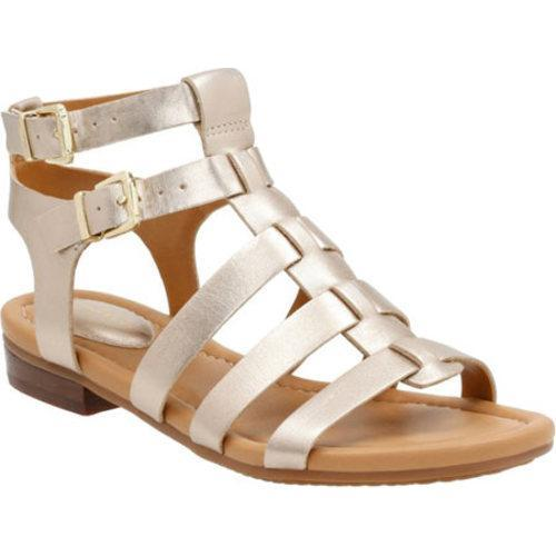 3a7999effc798 Shop Women s Clarks Viveca Myth Strappy Sandal Gold Full Grain Leather - Free  Shipping Today - Overstock.com - 11830810