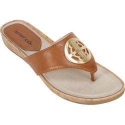 Women's Rialto Calista Thong Cognac Burnished Smooth Polyurethane