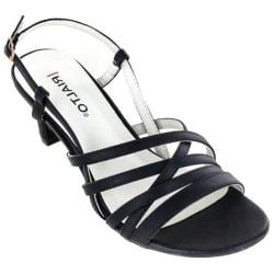 Women's Rialto Christen Strappy Sandal Black Smooth Polyurethane