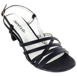 Women's Rialto Christen Strappy Sandal Black Smooth Polyurethane