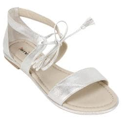 Women's Rialto Robyn Sandal Silver/Metallic Sueded Smooth Synthetic