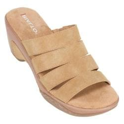 Women's Rialto Valora Wedge Slide Natural Sueded Polyurethane