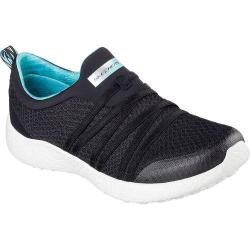 Women's Skechers Burst Very Daring Slip On Sneaker Black/Turquoise