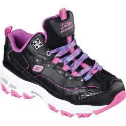 Girls' Skechers D'Lites Wild Bling Sneaker Black/Pink