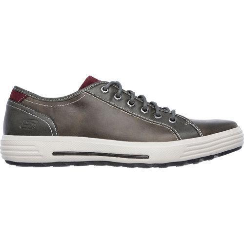 Men's Skechers Relaxed Fit Porter Ressen Sneaker Gray - Thumbnail 1
