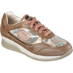 Women's Skechers Wedge Fit Vita Vivere Sneaker Brown