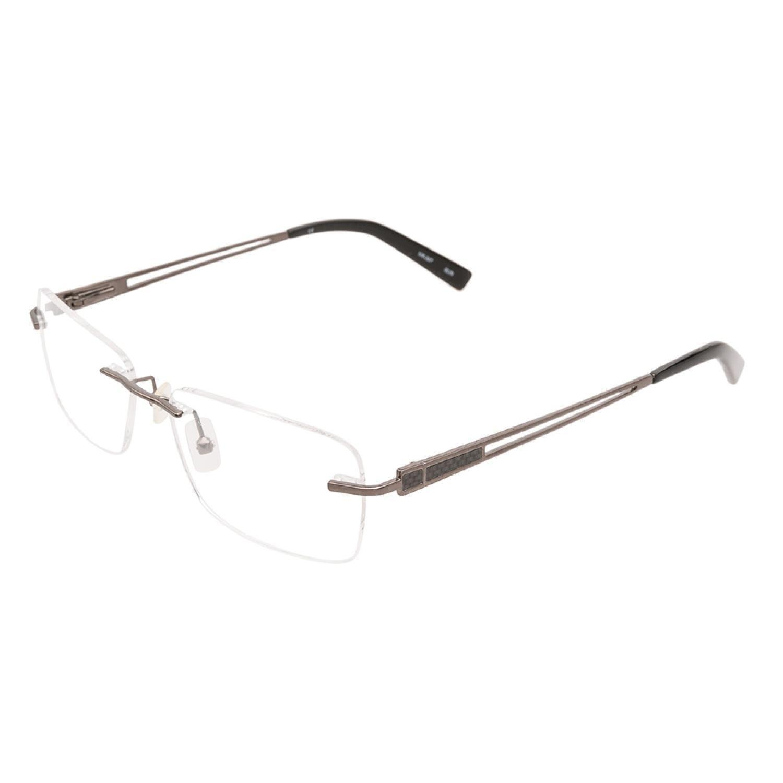 7a6e14be8a01 Shop Naturally Rimless NR347 GUN Gunmetal Prescription Eyeglasses ...