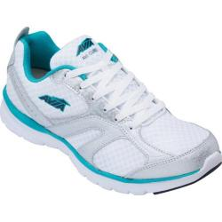 Women's Avia Avi-Cube White/Chrome Silver/Teal Blast/True Navy