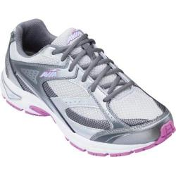 Women's Avia Avi-Execute Steel Grey/Chrome Silver/Spring Orchid/Skyway Blue