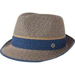 Men's Ben Sherman Multi-Stripe Straw Trilby Staples Navy