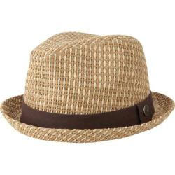Men's Ben Sherman Open Vent Straw Fedora Brown