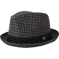 Men's Ben Sherman Open Vent Straw Fedora Jet Black