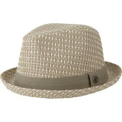 Men's Ben Sherman Open Vent Straw Fedora Off White