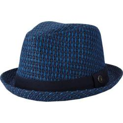 Men's Ben Sherman Open Vent Straw Fedora Staples Navy