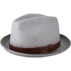 Men's Ben Sherman Plaited Brim Trilby Light Grey
