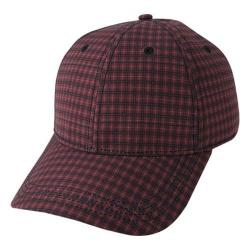 Men's Ben Sherman Sublimation Print Gingham Baseball Cap Cranberry