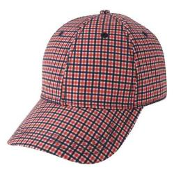 Men's Ben Sherman Sublimation Print Gingham Baseball Cap Red