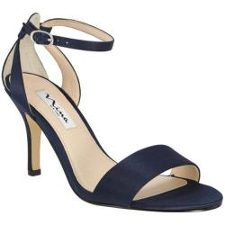 Women's Nina Venetia Sandal New Navy Luster Satin (More options available)