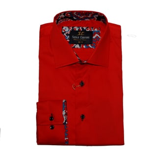 Suslo Couture Men's Stredo Red Button Down