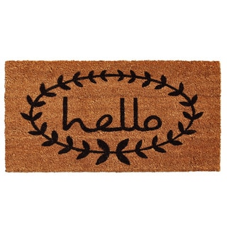 Calico Hello Doormat (3' x 6')