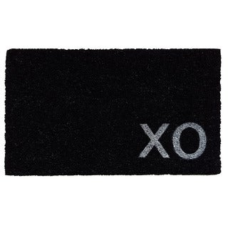 Black XO Doormat (1'5 x 2'5)