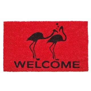Flamingo Welcome Doormat (1'5 x 2'5)