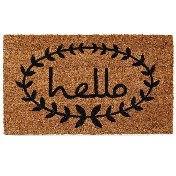 Calico Hello Doormat (2' x 3')