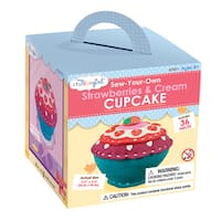 My Studio Girl Sew-Your-Own Strawberries and Cream Cupcake
