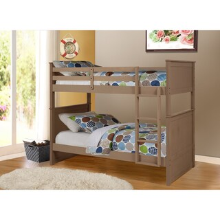 Madison Twin Over Twin Bunk Bed (Option: Beige - Taupe Finish)