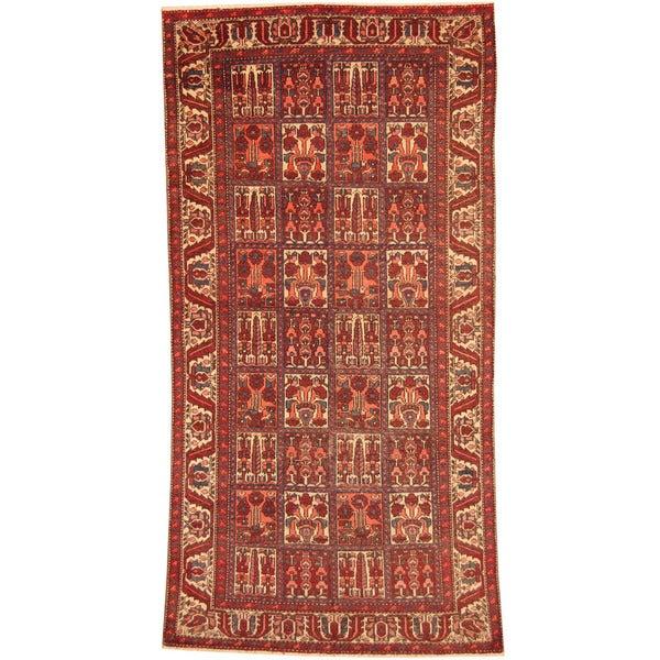 Persian Hand Woven Bakhtiari Style Wool Area Rug Ebth: Shop Handmade Herat Oriental Persian 1940s Semi-antique