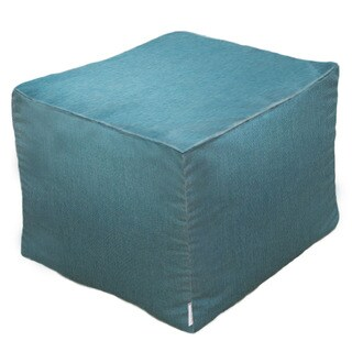 Outdoor/ Indoor Sunbrella Pouf 20 x 20 Cast Lagoon
