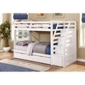 Twin Over Twin Bunk Bed with Trundle and Storage Steps