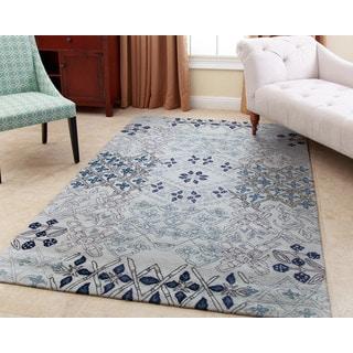 Abbyson Hand-tufted Paulina Light Blue New Zealand Wool Rug (5' x 8')