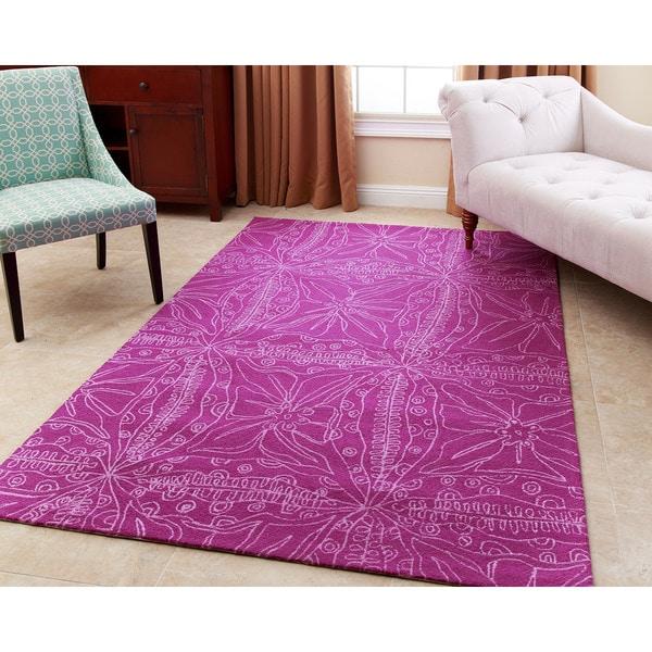 Abbyson Maui Magenta Wool Rug - 8' x 10'