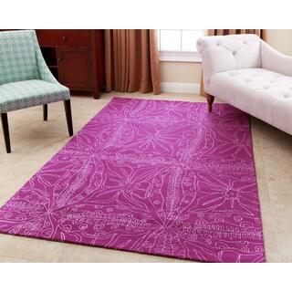 Abbyson Maui Magenta Wool Rug (8' x 10')
