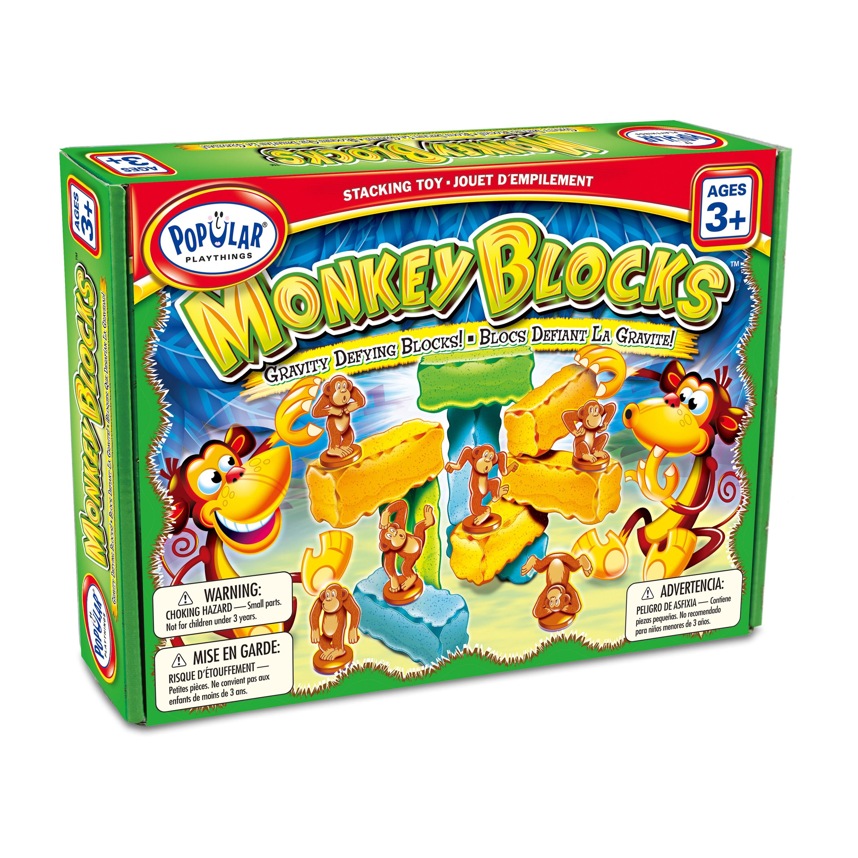 Popular Playthings Monkey Blocks, Orange
