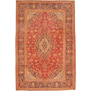 Herat Oriental Persian Hand-knotted Kashan Wool Rug (6'5 x 9'8)