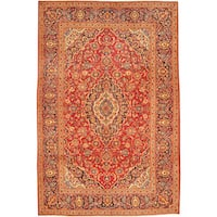 Herat Oriental Persian Hand-knotted Kashan Wool Rug - 6'5 x 9'8