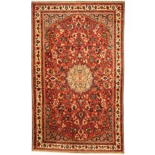 Herat Oriental Persian Hand-knotted Tribal Bakhtiari Wool Rug (6'9 x 11'2)
