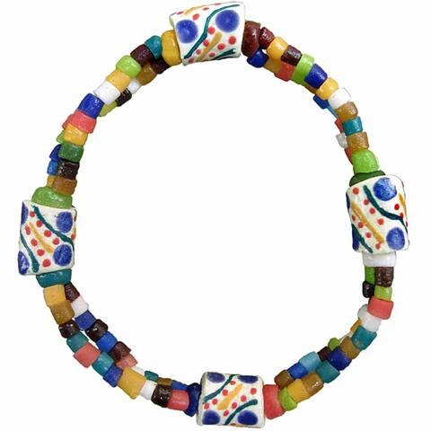 Handmade Global Mamas Festival Rainbow Bracelet (Ghana)