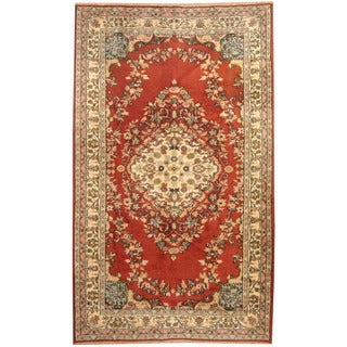 Herat Oriental Turkish Hand-knotted Tribal Sparta Wool Rug (5'9 x 9'6)