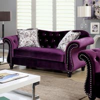 Furniture of America Dessie Traditional Tufted Loveseat