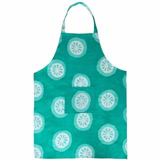 Global Mamas Hand Batiked Cotton Apron - Shamrock Citrus (Ghana)