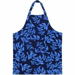 Global Mamas Handmade Cotton Apron - Blue Hanging Ferns (Ghana)|https://ak1.ostkcdn.com/images/products/11502204/P18454197.jpg?impolicy=medium