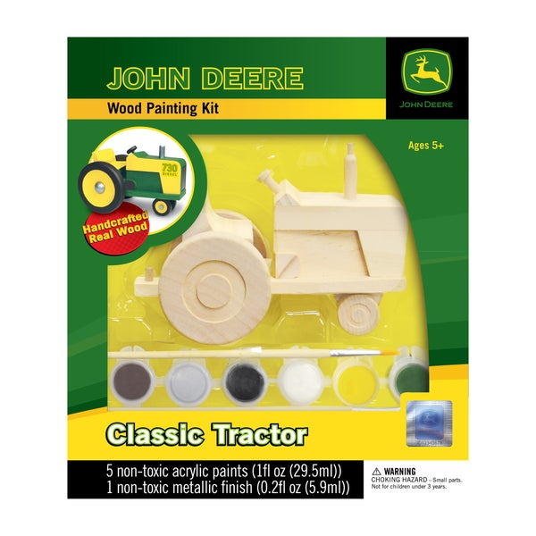 John Deere Wood Painting Kit Classic Tractor