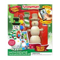 Works of Ahhh Wood Painting Kit Winter Snowman