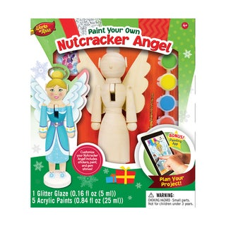 Works of Ahhh Wood Painting Kit Nutcracker Angel